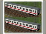 DB ICE-farbene Wagen Set 3