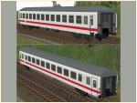 DB ICE-farbene Wagen Set 4