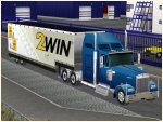 Kenworth-Truck blau mit Trailer 2WIN