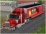 Kenworth-Truck rot mit Trailer SuziWang