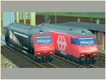 E-Lokomotive Re460 026 und SBB Re460 098