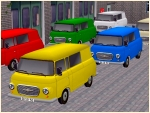 Barkas B1000-Bus in 6 Farben, Set2