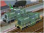 US Diesellokomotive GE 44ton Switcher der US-Army
