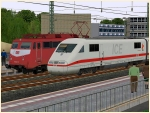 BR 401 ICE1 Triebzug 166 der DBAG in Epoche Vb