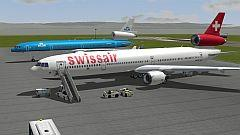 Sparset Flugzeug MD11-KLM,Swiss (Passagierversion)
