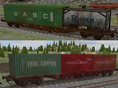 Containertransportwagen Sgns691 Ep.VI Set1