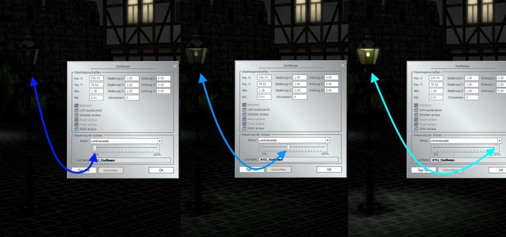 Neue Lichtfunktionen für Modelle: dimmen und schalten von Lichtern im Plug-In 1 zu EEP 15.1