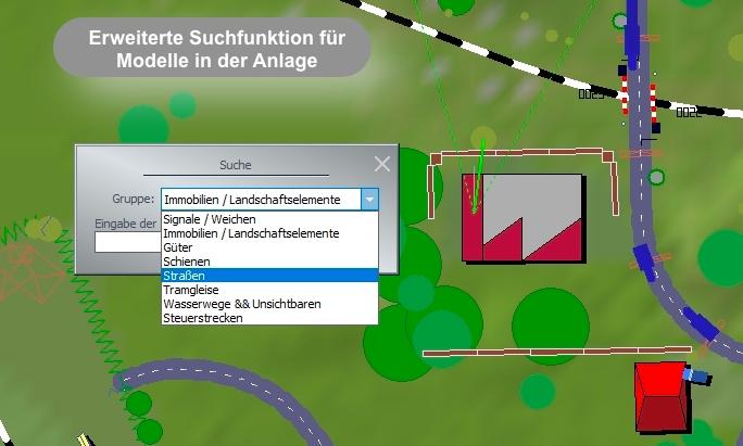Erweiterte Suchfunktion für Modelle in der Anlage im Plug-In 1 zu EEP 15.1