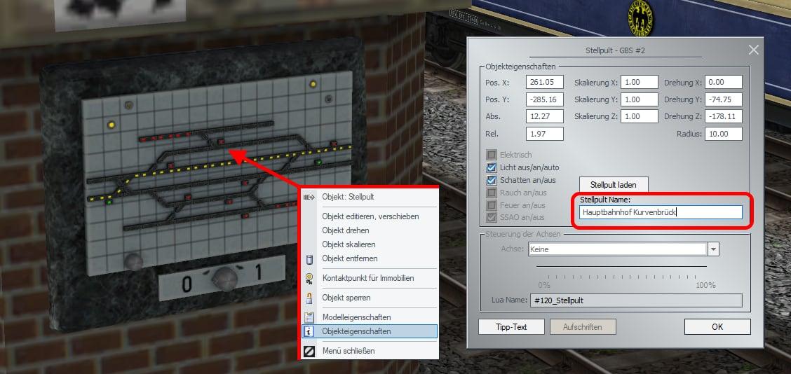 Gleisbildstellpulte frei benennbar im Plug-In 1 zu EEP 15.1